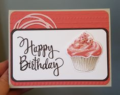 Stampin' Up Stylized Birthday, Cupcake bundle, Swirls and Scribbles thinlits