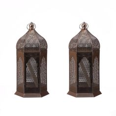 Etched Moroccan Lantern Set – Gunmetal from Oriental Lanterns - (Save Lantern Set, Moroccan Lanterns, Fresh Outfits, Buy Shoes, Best Brand, Bookends, Fashion Online, Oriental, Fashion Accessories
