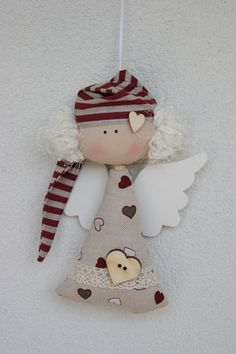 Best 12 Julie Nutting Mixed Media Doll Stamp – Wings by Prima Marketing for Scrapbooks, Cards, & Crafting – SkillOfKing. Nativity Ornaments, Christmas Ornament Crafts, Felt Christmas, Christmas Angels, Holiday Ornaments, Simple Christmas, Christmas Projects, Christmas Decorations, Birthday Decorations