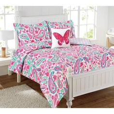 Shop for Watercolor Flutter Comforter Set. Get free delivery at Overstock - Your Online Kids', Teen, & Dorm Bedding Store! Get in rewards with Club O! Kids Comforter Sets, Kids Comforters, Teen Bedding, Bedding Sets Online, Duvet Bedding, Luxury Bedding, Bed Sheets, 1 Piece, Decorative Pillows