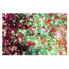 KESS InHouse Ebi Emporium 'Mistletoe Nebula' Red Green Dog Place Mat, 13' x 18' * New and awesome product awaits you, Read it now  (This is an amazon affiliate link. I may earn commission from it)