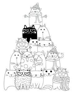 drawing to print pyramid cat coloring - Les Colos de kiki - - dessin à imprimer pyramide chat coloriage drawing to print pyramid cat coloring Cat Coloring Page, Coloring Book Pages, Splat Le Chat, Cat Crafts, Cat Colors, Digi Stamps, Cat Drawing, Doodle Art, Cat Art