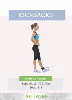 Cable kickbacks exercise