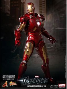 Figura Los Vengadores 2012 (The Avengers). Iron Man Mark VII, 30 cms. Masterpiece. Hot Toys