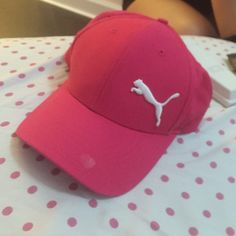 af1e886989 Puma hat Hot pink puma hat with white Puma Accessories Hats