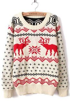 Deer Print Sweater