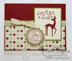 Dasher Christmas card created by Pam Staples (www.sunnygirlscraps.com)
