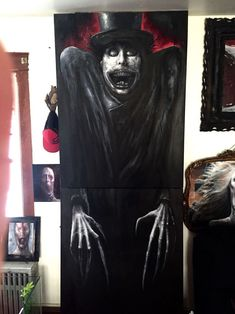 My Latest Horror Paintings Created With Oil Halloween Painting, Halloween Art, Arte Horror, Horror Art, Scary Paintings, Gothic Fantasy Art, Creepy Pictures, Scary Art, Art Journal Inspiration