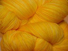 "Wüllenstudio ""Mellow Yellow"" Sock Yarn Mini Skein."