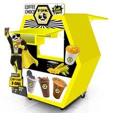 Food Stall Design, Food Cart Design, Food Cart Business, Coffee Business, Cafe Shop Design, Food Kiosk, Y Food, Tea Cafe, Outdoor Food