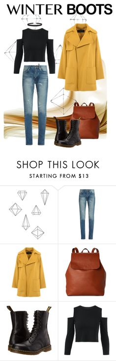 """""""Winning in Winter"""" by elliebecker2000 ❤ liked on Polyvore featuring Umbra, Yves Saint Laurent, Barbara Bui, Street Level, Dr. Martens and Humble Chic"""