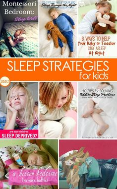 So many great tips for helping your kids get more sleep - click on the image to see them