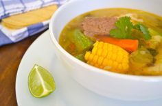 Caldo de Res... My fave Mexican Dish! My moms is the best recipe ever! Top it with a fresh banana! Weird? yes!! Delicious? Yes!!!