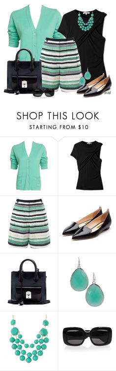 """Shorts and Flats"" by michelled2711 ❤ liked on Polyvore featuring Pierre Cardin, Carven, Whistles, Rupert Sanderson, Balenciaga, Stella & Dot, Bottega Veneta, women's clothing, women and female"