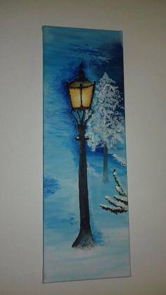erika97652 / Zimný večer Painting, Art, Art Background, Painting Art, Kunst, Paintings, Performing Arts, Painted Canvas, Drawings