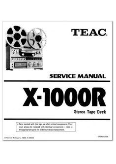 Teac X-1000R reel tape recorder Service Manual 100 satisfaction guaranteed  100 Virus Free burned CD  DOWNLOAD