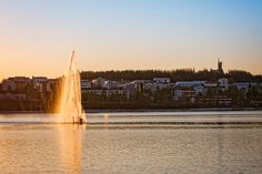 A fountain at Lake Jyväsjärvi Landscape Photographers, Finland, Fountain, Waterfall, Landscapes, Outdoor, Instagram, Paisajes, Outdoors