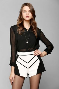 Piped shorts urban outfitters