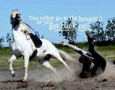 You always get back on!!!