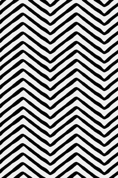 Yoruba Herringbone by willowlanetextiles - Black herringbone stripes on fabric, wallpaper, and gift wrap. Simple handpainted herringbone patterned stripes on a white background.