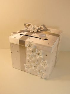 Chanpagne color Wedding Card Box Gift Card Box by bwithustudio, $75.00