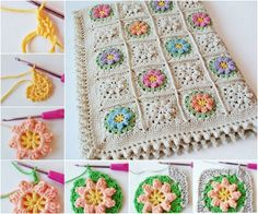 Primavera Crochet Flower Blanket Free Pattern | The WHOot