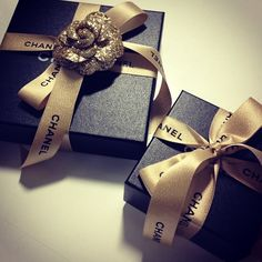 The prettiest presents under the Harper's Bazaar Christmas tree from Chanel