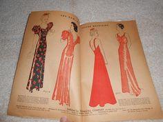 Original Vintage 1930s McCall 8978 Evening Gown by BizzieLizzies