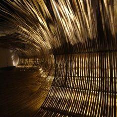 Nangchang Nangchang bamboo installation  by Kengo Kuma