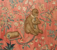 Detail of the Tapestry of the Lady and the unicorn, Musée de Cluny, Paris