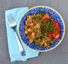 Egyptian Kosheri with Quinoa, Lentils & Chickpeas