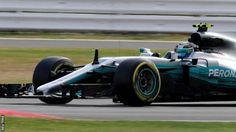 There is radio commentary of the British Grand Prix online and on BBC Radio 5 live  Valtteri Bottas set the pace as Mercedes dominated first practice at the British Grand Prix.  The  Finn who won in Austria last Sunday was 0.078 seconds quicker than  team-mate Lewis Hamilton as the two swapped fastest times through the  session. Hamilton's main title rival Sebastian Vettel was only  sixth quickest 1.411secs off the pace after a big spin at the fast  Becketts curves and a trip over the kerbs…