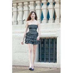 Strapless denim dress. New item on our website, www.ilovedresses.nl