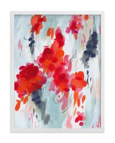 """Poppies I"" - Art Print by Iron Range Artery in beautiful frame options and a variety of sizes."