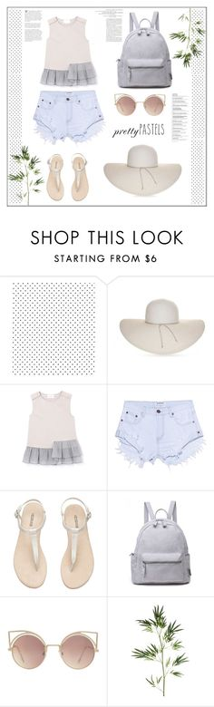"""Pastel."" by zeljkaa ❤ liked on Polyvore featuring Nine West, One Teaspoon, MANGO and Pier 1 Imports"