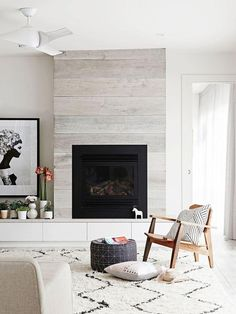 3 Alert Tips AND Tricks: Simple Fireplace Paint fireplace kitchen how to build.Mobile Home Fireplace Makeover rock fireplace exterior. Home Fireplace, Fireplace Remodel, Fireplace Design, Fireplace Ideas, Fireplace Modern, Shiplap Fireplace, Simple Fireplace, Off Center Fireplace, Fireplace Windows