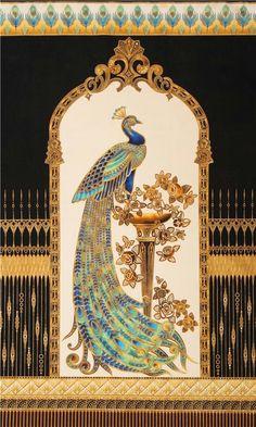 Cedar Wood Peacock Bird Fine inlaid work intricated finishing work animal