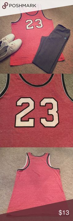 🏀23 Tank🏀 Michael Jordan inspired tank. Worn once. Excellent condition. Tops Tank Tops