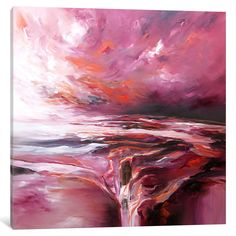 Sunset Bay by JA Art Painting Print on Wrapped Canvas