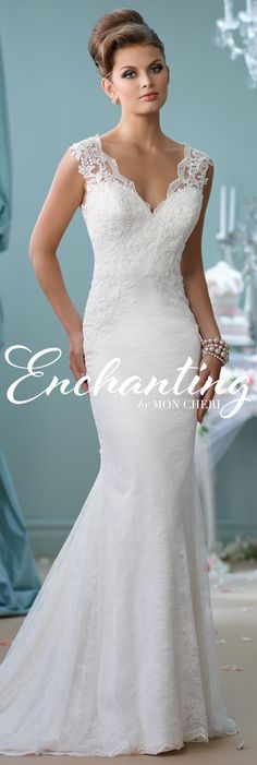 Enchanting by Mon Cheri Spring 2016 ~Style No. 116132 #laceweddingdress