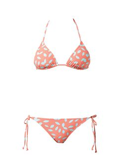 #DVFlovesROXY leaf - neon peach Tiki Tri Bikini SHOP 3/7