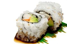 California Rolls aren't made from real fish at all -- they're made from fake crab (aka surimi), which is a combo of some crab, sugar, corn starch, sodium, and other artificial flavors. They're also 75% carbs, all of which is from white rice. Processed white rice = immediate fat storage.