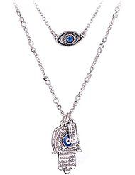 DaisyJewel Good Fortune and Protection Hamsa Necklace