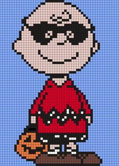 Halloween Charlie Brown (Square Grid Pattern)