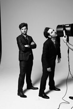 Adam Scott & Paul Rudd, the adorably awkward boys. Paul Rudd, Adam And Paul, John Mulaney, Cinema, Rhyme And Reason, Parks N Rec, Future Boyfriend, Show, Man Humor