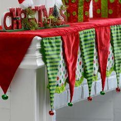 Christmas Bell Mantel Scarf from Kirkland's Christmas Mantel Scarf, Silver Christmas Decorations, Grinch Christmas, Christmas Mantels, Christmas Bells, Christmas Home, Christmas Crafts, Christmas Ideas, Homemade Christmas