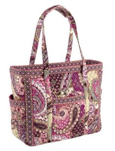 Get Carried Away Tote in Very Berry Paisley    Beth