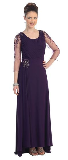 4e3342df999db Another great find on  zulily! MayQueen Eggplant Rhinestone-Sleeve Surplice  Gown by MayQueen