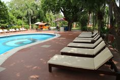 How about sunning yourself while sipping on a mocktail by the pool at Hotel Clarks Shiraz.