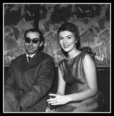 Jean Seberg with director Jean-Luc Godard, photo by Raymond Depradon, Paris, 1960